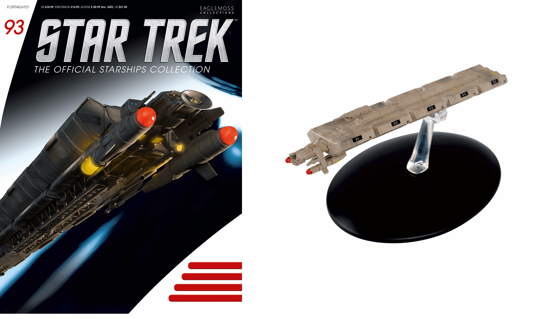 Eaglemoss Star Trek Ship Collection Magazine 93 ECS Horizon Ship