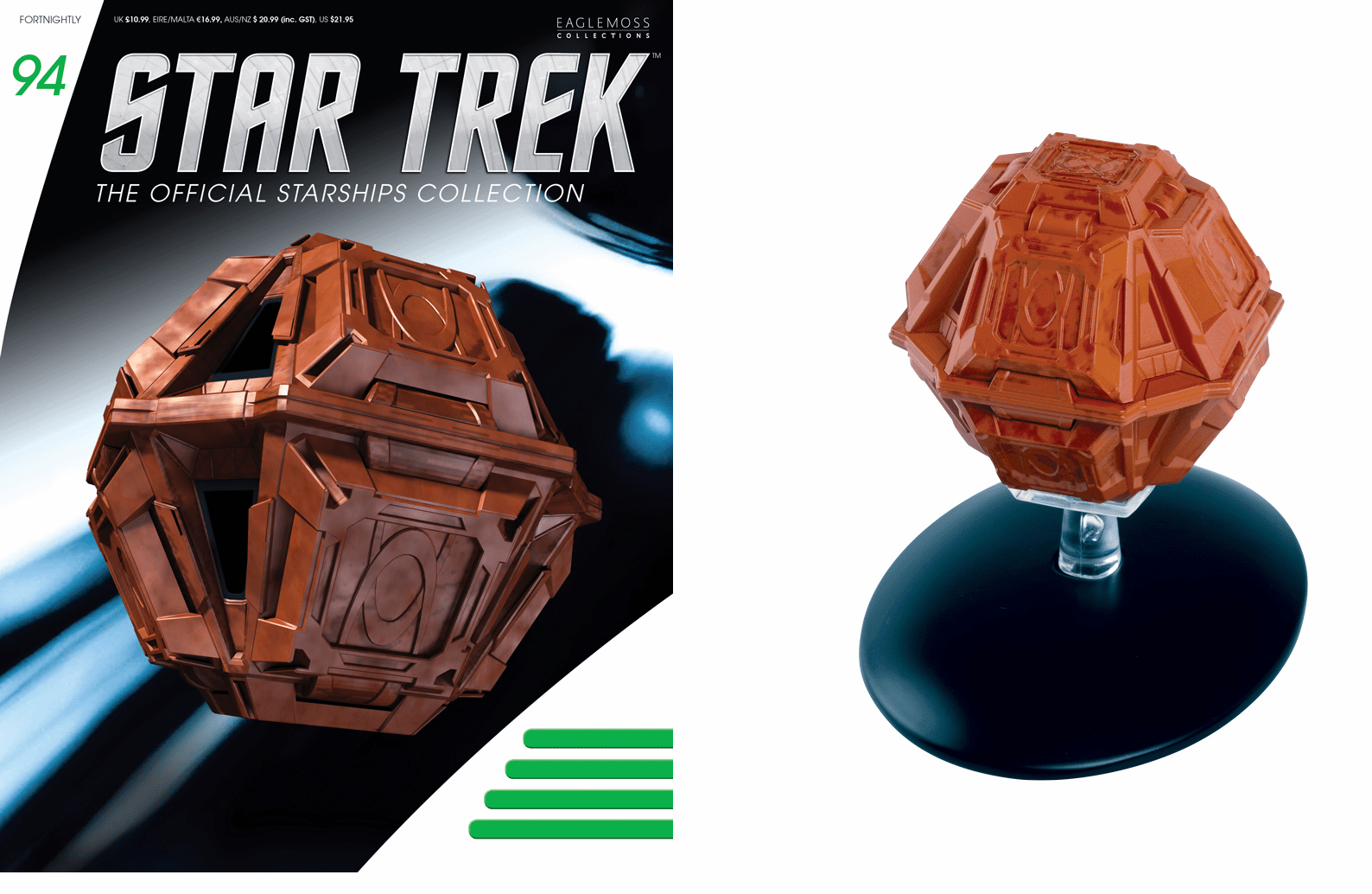 Eaglemoss Star Trek Ship Collection Magazine 94 Suliban Cell Ship