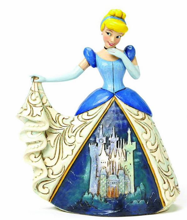 Enesco Disney Traditions Cinderella with Castle Dress Figure