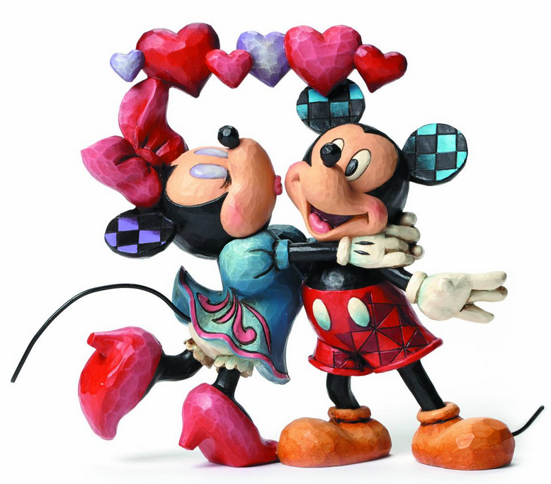 Enesco Disney Traditions Mickey & Minnie Hearts Figure