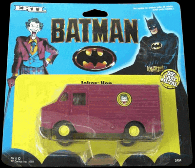 ERTL Batman Joker Van 1/48 Scale Diecast Metal