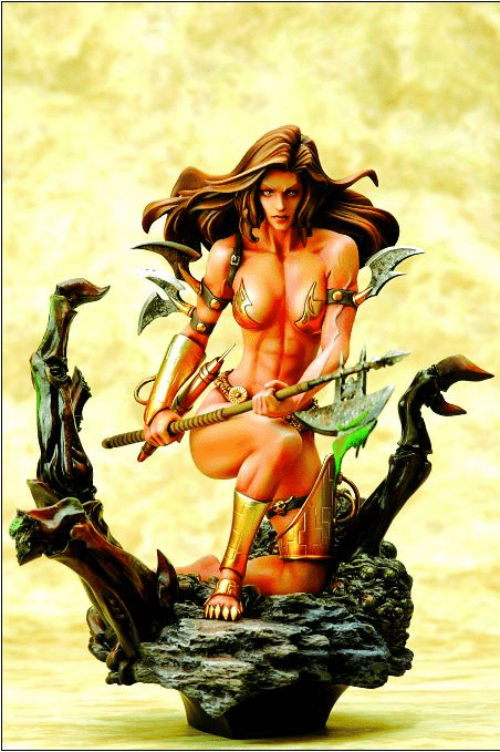 Fantasy Figure Gallery Boris Vallejo Monica's Axe Statue