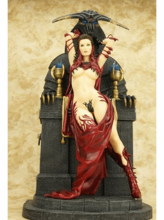 Fantasy Figure Gallery Dorian Cleavenger Sacrifice European Red Statue