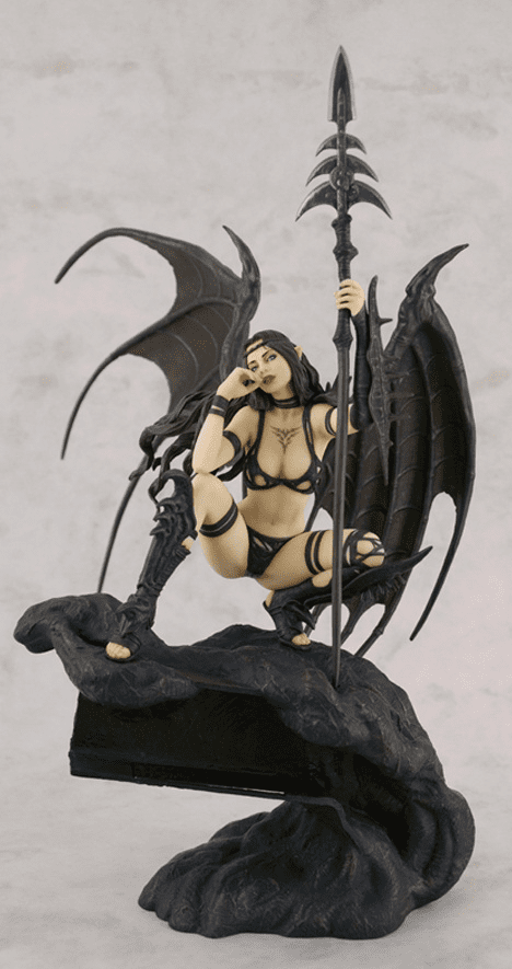 Fantasy Figure Gallery Luis Royo Black Tinkerbell Statue
