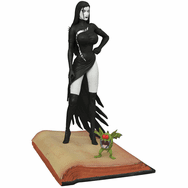 Femme Fatales Tarot Witch of the Black Rose Raven Hex PVC Statue