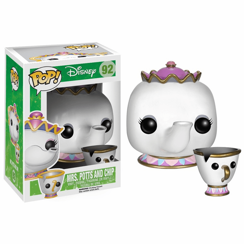 Funko Disney Pop Vinyl 92 Beauty and the Beast Mrs Potts Chip Figures