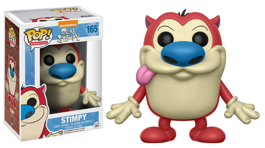 Funko Pop Animation Vinyl Ren & Stimpy #165 Stimpy Figure