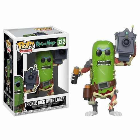 Funko Pop Animation Vinyl Rick & Morty Pickle Rick with Laser Figure