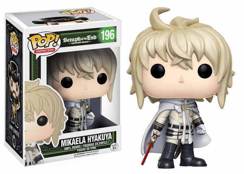 Funko Pop Animation Vinyl Seraph of the End Mikaela Hyakuya Figure