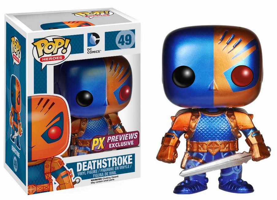 Funko Pop Heroes 49 Deathstroke Metallic Figure