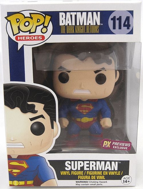 Funko Pop Heroes Vinyl 114 Batman Dark Knight Returns Superman Figure