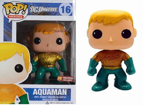 Funko Pop Heroes Vinyl 16 Aquaman Previews Variant Figure