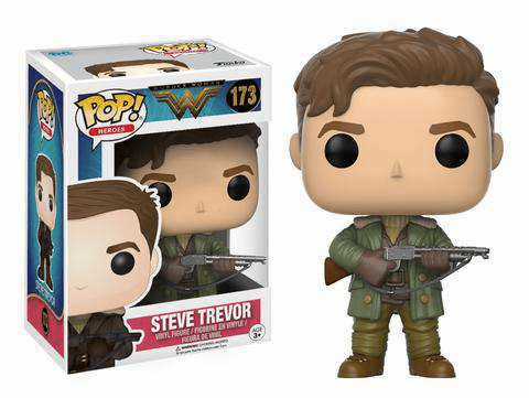 Funko Pop Heroes Vinyl 173 Wonder Woman Steve Trevor Figure