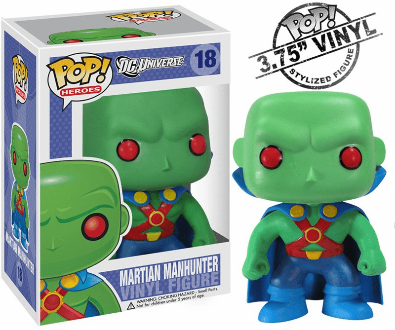 Funko Pop Heroes Vinyl 18 Martian Manhunter Figure