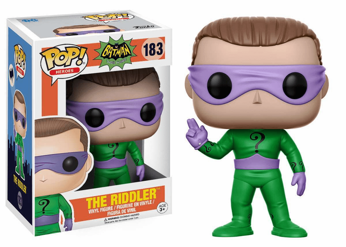 Funko Pop Heroes Vinyl 183 1966 Batman The Riddler Figure