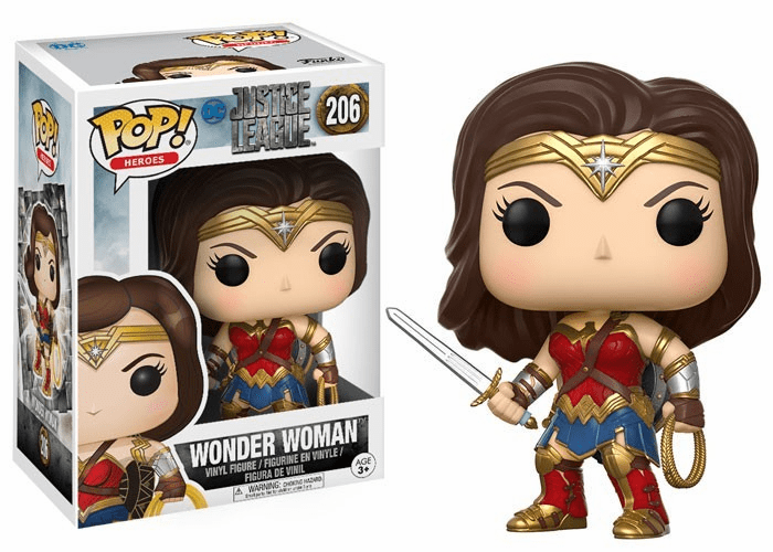 Funko Pop Heroes Vinyl 206 Justice League Wonder Woman Figure