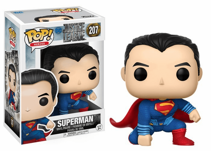 Funko Pop Heroes Vinyl 207 Justice League Superman Figure