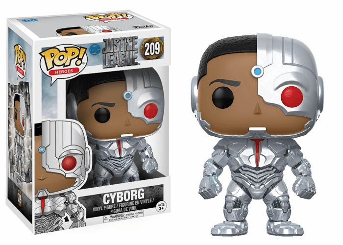Funko Pop Heroes Vinyl 209 Justice League Cyborg Figure