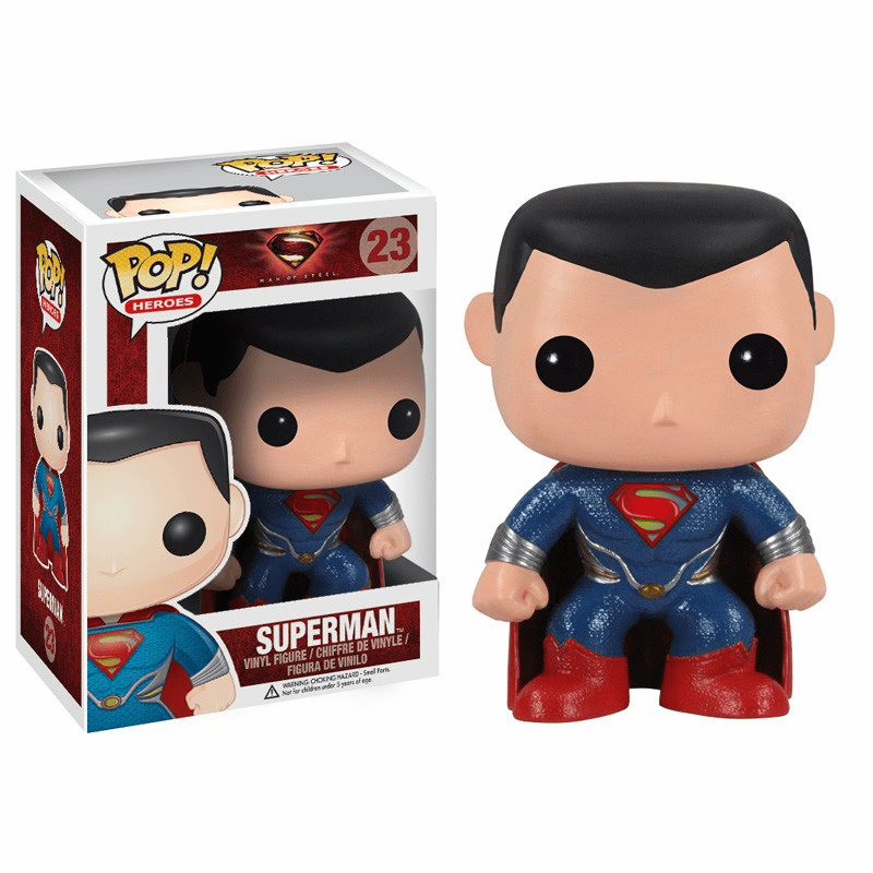 Funko Pop Heroes Vinyl 29 Man of Steel Superman Figure