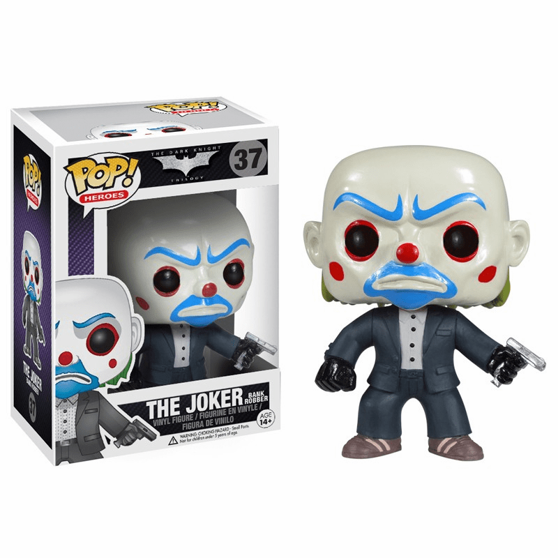 Funko Pop Heroes Vinyl 37 Dark Knight Bank Robber The Joker Figure