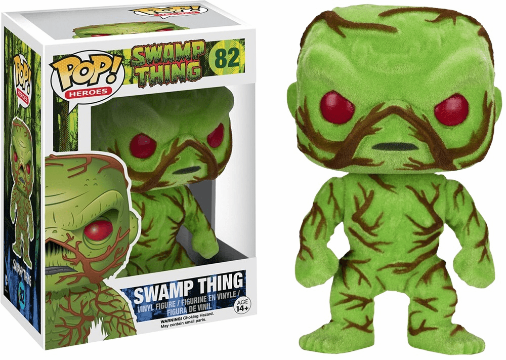 Funko Pop Heroes Vinyl 82 Swamp Thing Flocked Figure