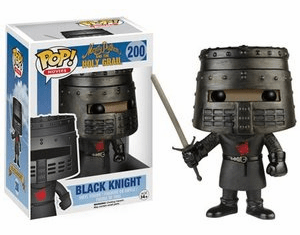Funko Pop Movies Vinyl 200 Monty Python Holy Grail Black Knight Figure