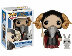 Funko Pop Movies Vinyl 201 Monty Python and the Holy Grail Tim Enchanter Figure