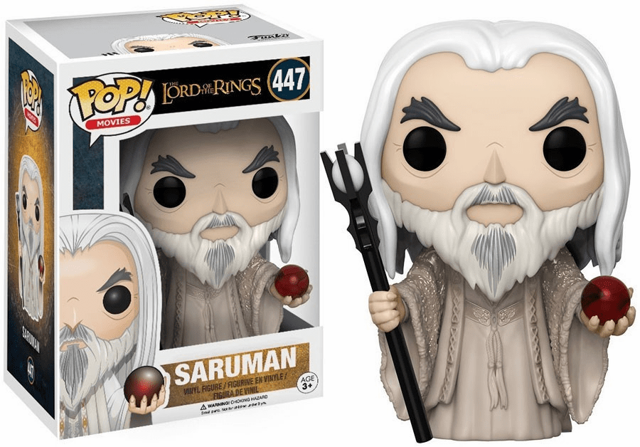 Funko Pop Movies Vinyl 447 Lord of the Rings Saruman Figure