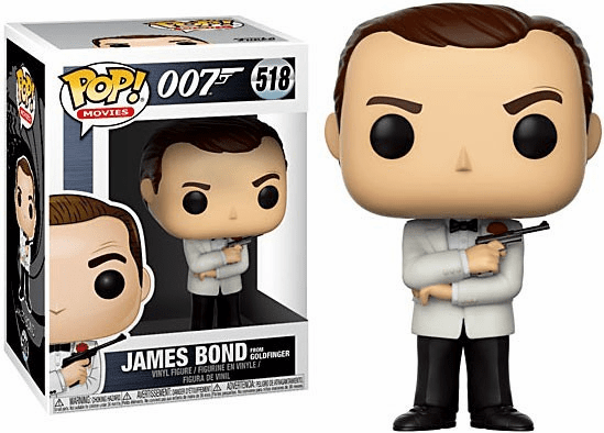 Funko Pop Movies Vinyl 518 James Bond from Goldfinger Figure