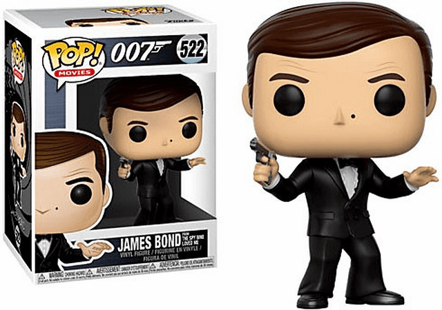 Funko Pop Movies Vinyl 522 James Bond from The Spy Who Loved Me Figure