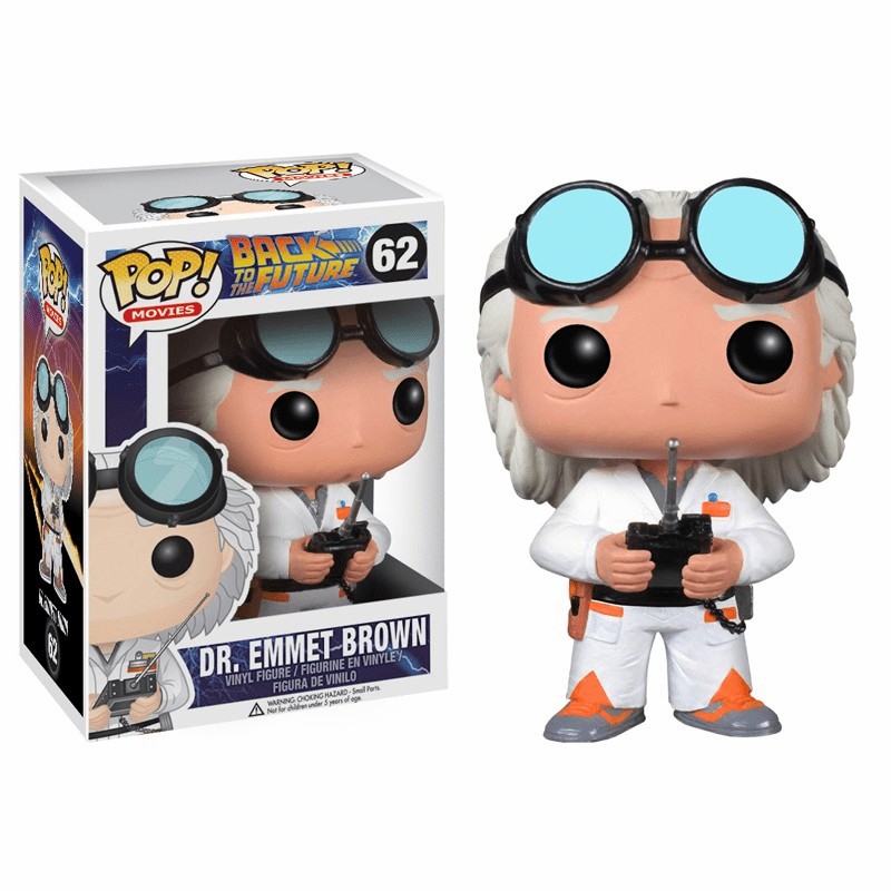 Funko Pop Movies Vinyl 62 Back to the Future Dr. Emmet Brown Figure