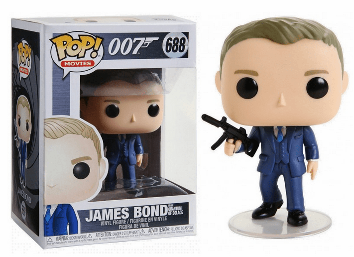Funko Pop Movies Vinyl 688 James Bond from Quantum of Solace Figure