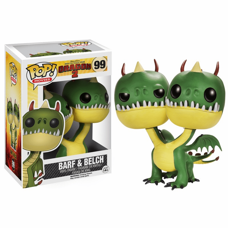 Funko Pop Movies Vinyl 99 How to Train Your Dragon 2 Barf and Belch Figure