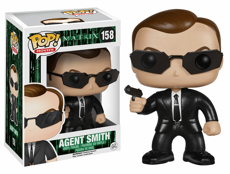 Funko Pop Movies Vinyl Matrix Agent Smith Figure