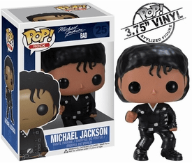 Funko Pop Rock Vinyl 25 Michael Jackson Bad Figure