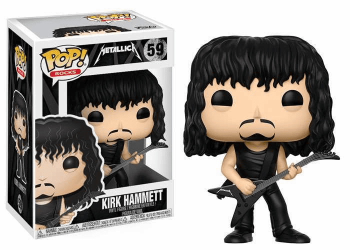 Funko Pop Rock Vinyl Metallica Kirk Hammett Figure