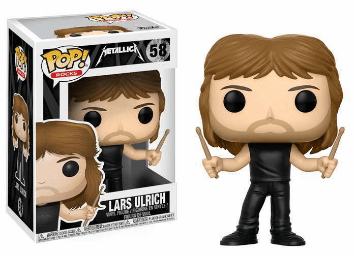 Funko Pop Rock Vinyl Metallica Lars Ulrich Figure