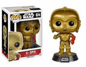 Funko Pop Star Wars Vinyl 64 The Force Awakens C-3PO Figure