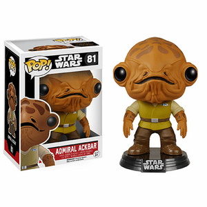 Funko Pop Star Wars Vinyl 81 The Force Awakens Admiral Ackbar Figure