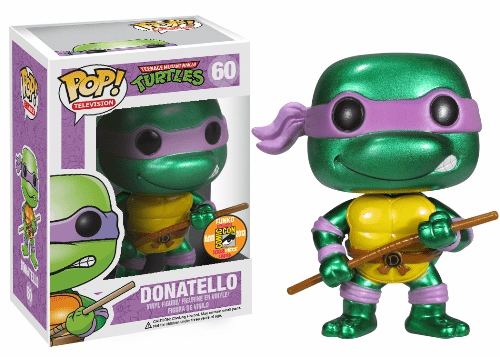 Funko Pop TV 60 TMNT Donatello Metallic Figure