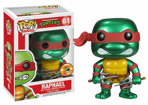 Funko Pop TV 61 TMNT Raphael Metallic Figure