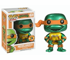Funko Pop TV 62 TMNT Michelangelo Metallic Figure