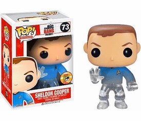 Funko Pop TV 73 Big Bang Theory Star Trek Sheldon SDCC Variant Figure