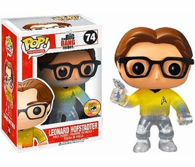Funko Pop TV 74 Big Bang Theory Star Trek Leonard SDCC Exclusive Variant Figure