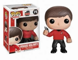 Funko Pop TV 75 Big Bang Theory Star Trek Howard Wolowitz Figure