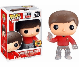 Funko Pop TV 75 Big Bang Theory Star Trek Howard Wolowitz SDCC Variant Figure