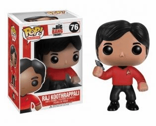 Funko Pop TV 76 Big Bang Theory Star Trek Raj Figure