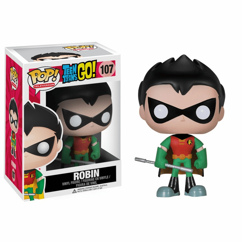 Funko Pop TV Vinyl 107 Teen Titans Go Robin Figure