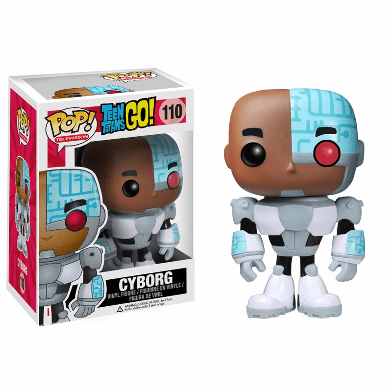 Funko Pop TV Vinyl 110 Teen Titans Go Cyborg Figure