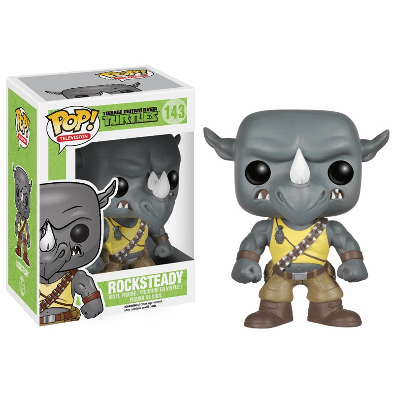 Funko Pop TV Vinyl 143 Teenage Mutant Ninja Turtles Rocksteady Figure